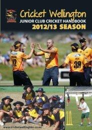 Junior Cricket Handbook - Wellington Cricket