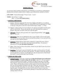 Dodgeball Rules - Temple University