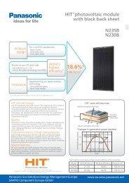 Download datasheet - Panasonic Solar