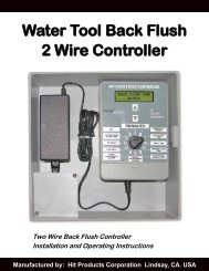 Water Tool Back Flush 2 Wire Controller - Hit Products Corporation