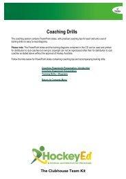 Coaching Drills and Diagrams - Hockey Australia