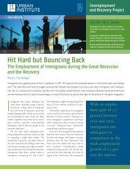 Hit Hard but Bouncing Back: The Employment of ... - Urban Institute