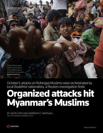Organized attacks hit Myanmar's Muslims - Thomson Reuters