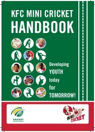 KFC Mini Cricket Handbook