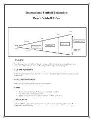 International Softball Federation Beach Softball Rules - ISF