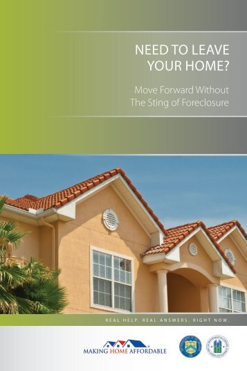 HAFA Brochure - Making Home Affordable