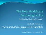 LTC -HIT - Illinois Council on Long Term Care