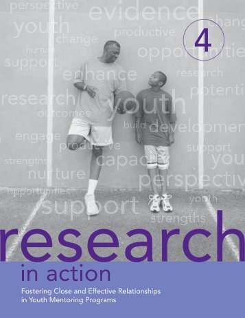 Fostering Close and Effective Relationships in Youth Mentoring