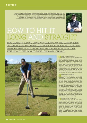 HOW TO HIT IT LONG AND STRAIGHT