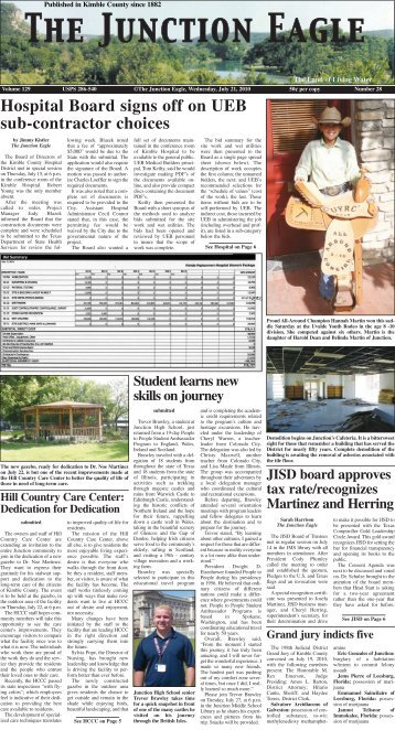 Hospital Board signs off on UEB sub-contractor ... - Junction Eagle