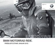 Preisliste BMW Motorrad Ride.