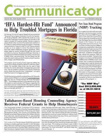 HFA Hardest-Hit Fund - Florida Housing Finance Corporation