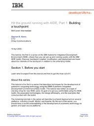 Hit the ground running with AIDE, Part 1: Building a touchpoint - IBM