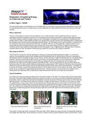 Dissipation of Lightning Energy on Antennas and Towers