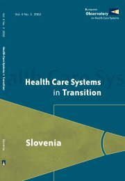 Slovenia - World Health Organization Regional Office for Europe