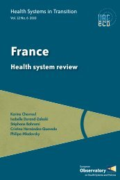 Health Systems in Transition France - World Health Organization ...