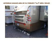 MOTORHOME DAMAGES WHEN HIT ON FEBRUARY 1 by 5 ...