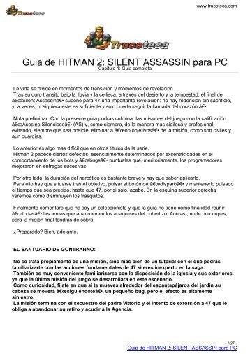 Guia de HITMAN 2: SILENT ASSASSIN para PC - Trucoteca.com