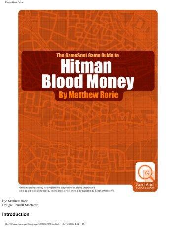 Hitman Game Guide - Walmart
