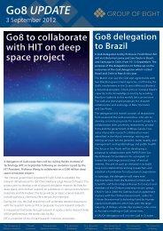 Go8 September Newsletter - the Group of Eight