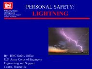 PERSONAL SAFETY during LIGHTNING - Engineering and Support ...