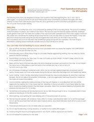 Post Operative Instructions for Rhinoplasty - Michael Echavez, MD