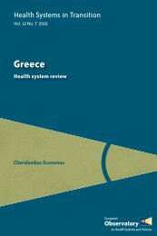 Health Systems InTransition - Greece (HiT Vol.12 No.7 2010)