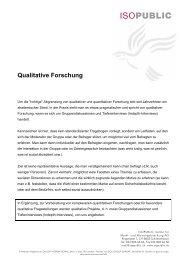 Qualitative Forschung - Isopublic