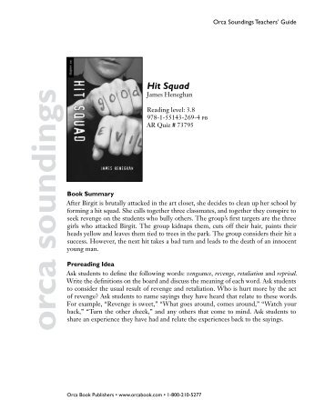 Hit squad orca soundings - Orca Book Publishers
