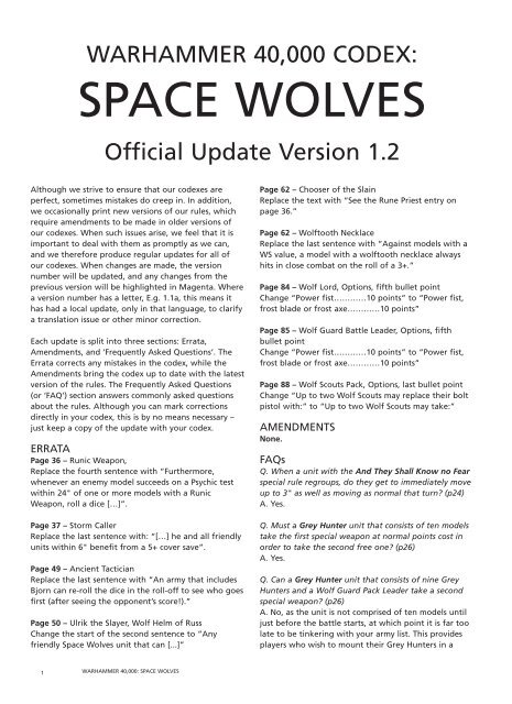 Space Wolf Pdf