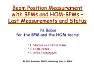 Beam Position Measurement with BPMs and HOM ... - FLASH - Desy