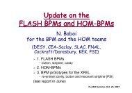 Update on the FLASH BPMs and HOM-BPMs - FLASH - Desy