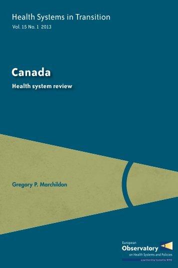 Canada - World Health Organization Regional Office for Europe