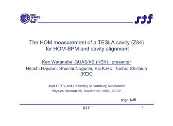 The HOM measurement of a TESLA cavity (Z84) for HOM-BPM and ...
