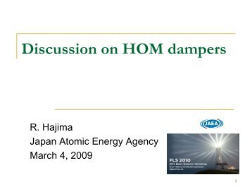 Discussion on HOM dampers