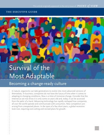 Survival of the Most Adaptable