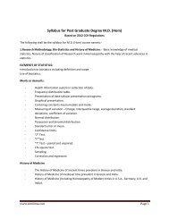 Syllabus for Post Graduate Degree M.D. (Hom) - Similima