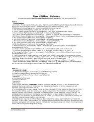 MD(Hom) Syllabus by Vinayaka Mission Deemed University - Similima