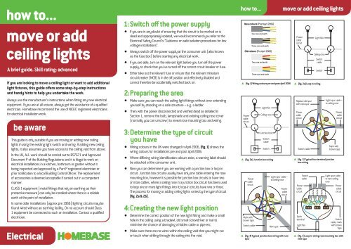 Move Or Add Ceiling Lights Homebase