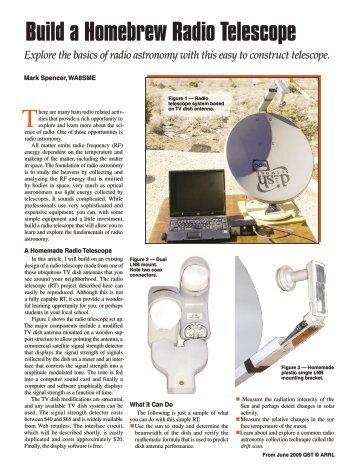 Build a Homebrew Radio Telescope - ARRL