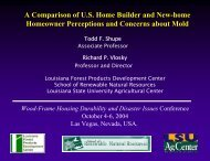 A Comparison of US Home Builder and New - Louisiana Forest ...