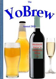 Out NOW! Our FREE home brewing magazine! Annual - YoBrew