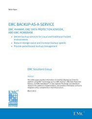 What is Backup-as-a-Service? - EMC