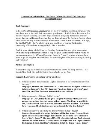 Literature Circle Guide to The Sisters Grimm: The Fairy ... - Scholastic