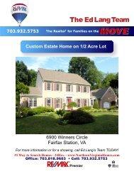 Custom Estate Home on 1/2 Acre Lot 6900 Winners Circle Fairfax ...