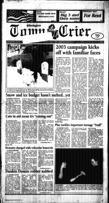2003 campaign kicks off with familiar faces - Wilmington Town Crier