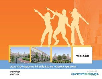 Atkins Circle Apartments Printable Brochure - Charlotte Apartments