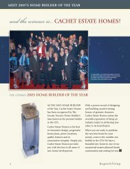 Meet 2005's Home Builder of the Year - Cachet Estate Homes