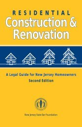 RESIDENTIAL Construction & Renovation - NJSBF.org