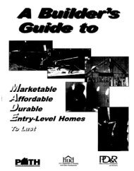 A Builder's Guide to Marketable Affordable Durable Entry - HUD User